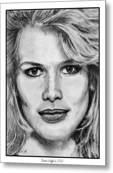 Claudia Schiffer In 1992 Metal Print