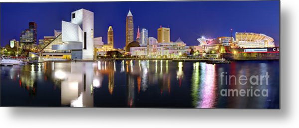 Cleveland Skyline At Dusk Metal Print