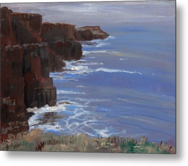 Cliffs Of Mohr Metal Print by Cathy France