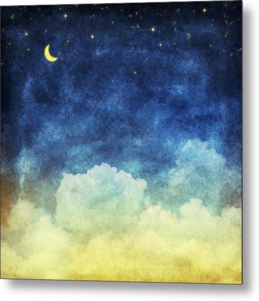 Cloud And Sky At Night Metal Print