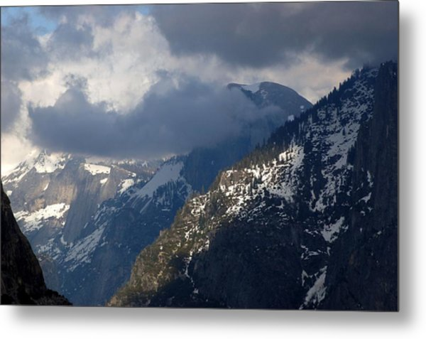 Clouds On Half Dome Metal Print by Richard Verkuyl