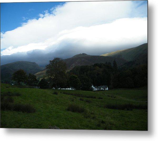 Cloudy Hills Metal Print