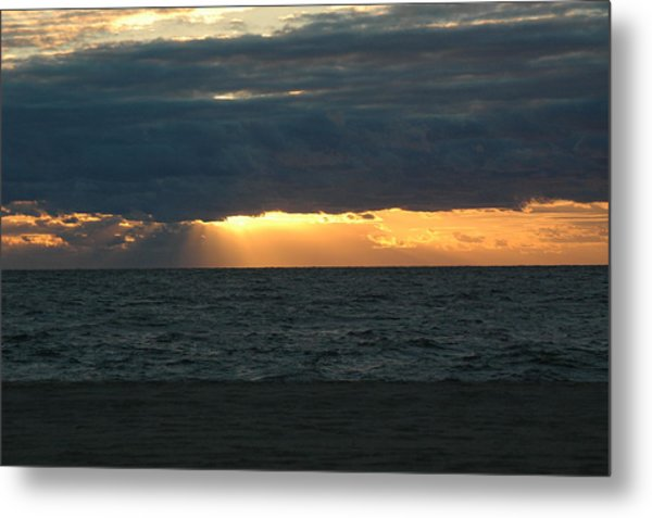 Cloudy Sunrise Metal Print by See Me Beautiful Photography