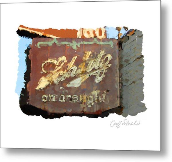 Club Tap Sign Metal Print