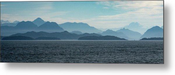 Coastal Mountains Metal Print