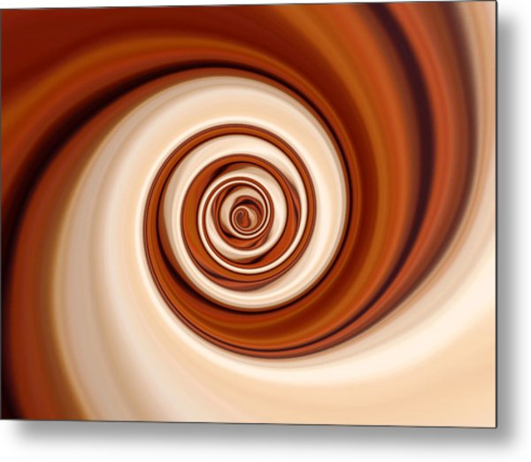 Coffee And Cream Metal Print by Pauline Thomas
