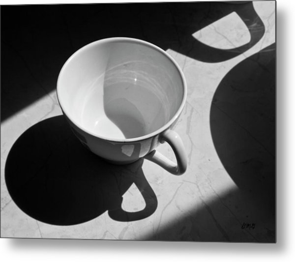 Coffee Cup In Light And Shadow Metal Print