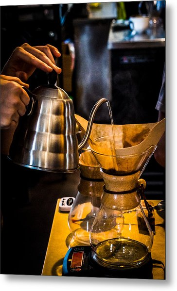 Coffee First Metal Print