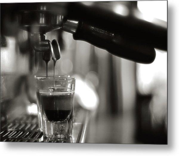 Coffee In Glass Metal Print