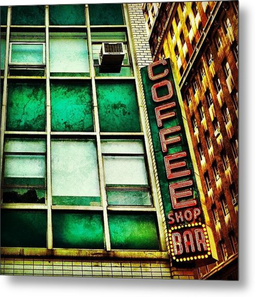 Coffee Shop Bar Metal Print