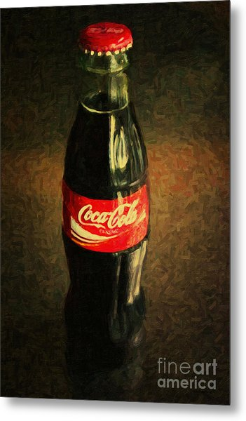 Metal Print featuring the photograph Coke Bottle by Wingsdomain Art and Photography