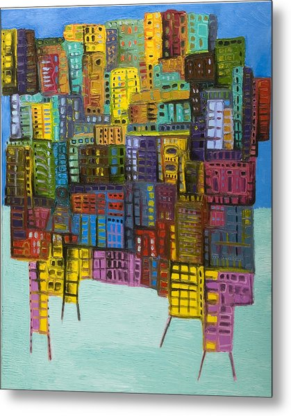 Collide Metal Print by Maria Curcic