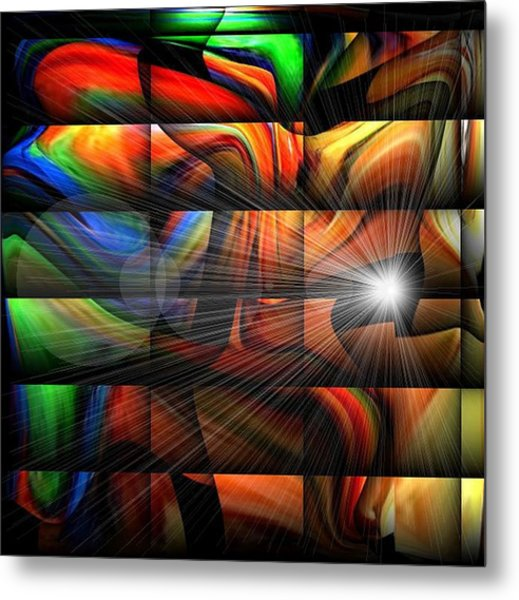 Colorful Abstract Sunburst Metal Print by Teo Alfonso
