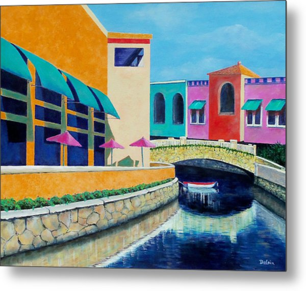 Colorful Cancun Metal Print