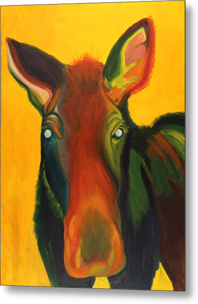 Colorful Cow Metal Print by Amy Reisland-Speer
