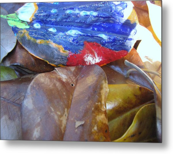 Colorful Leaves Metal Print by HollyWood Creation By linda zanini