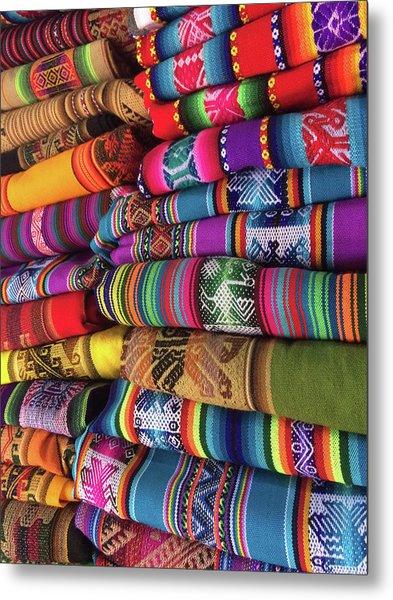 Colorful Tablecloths Metal Print