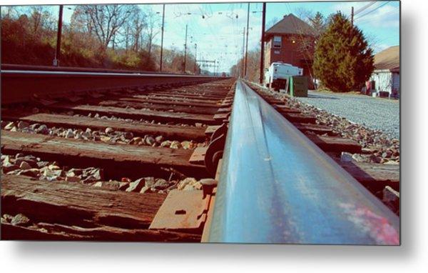 Commuter Train Tracks, Downingtown, Pa. Metal Print