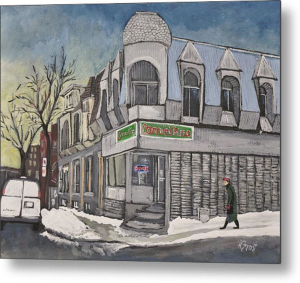 Connie's Pizza Psc Metal Print