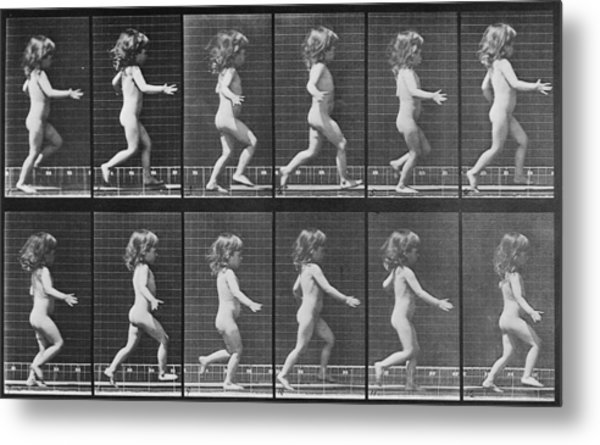 Consecutive Images Of A Little Nude Metal Print by Everett