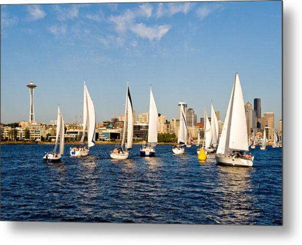 Converge On Seattle Metal Print by Tom Dowd