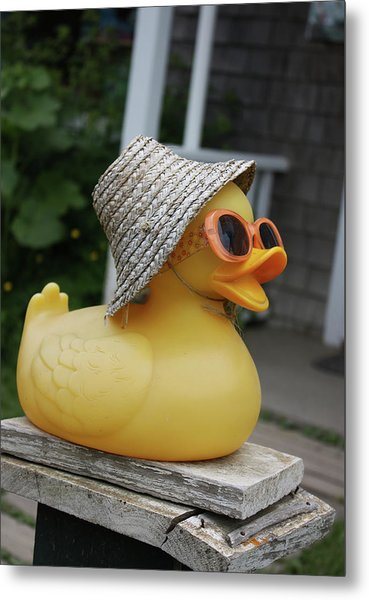 Cool Ducky Metal Print