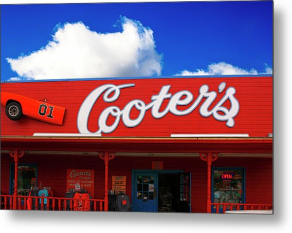Cooters - The Dukes Of Hazard Museum In Nashville Tn, Usa Metal Print