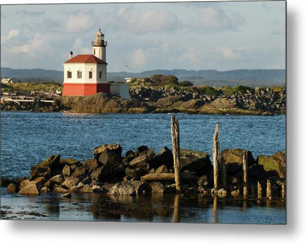 Coquille River Lighthouse Bandon Oregon Metal Print