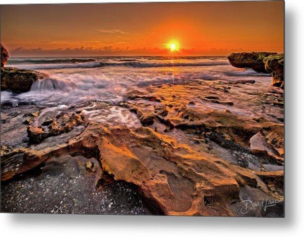 Coral Cove Sun Metal Print