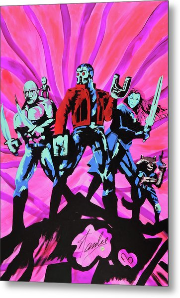 Cosmic Guardians Of The Galaxy 2 Metal Print