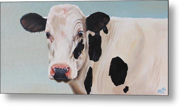Cosmoo Cow Metal Print