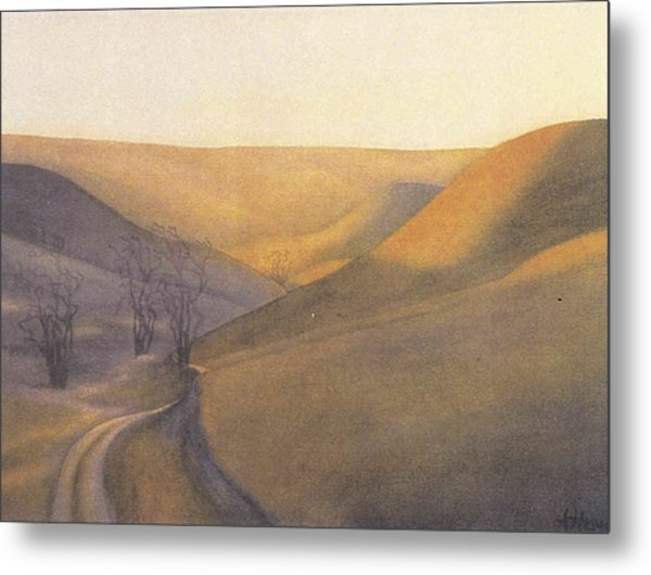 Coulee Sunset Metal Print