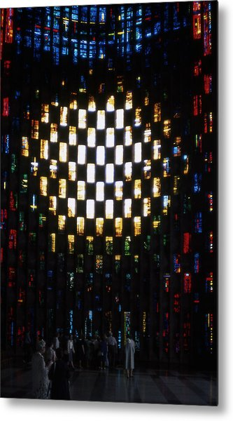 Coventry Cathedral Stained Glass Window England Metal Print by Richard Singleton