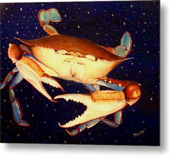 Crab In Space Metal Print by Scott Plaster