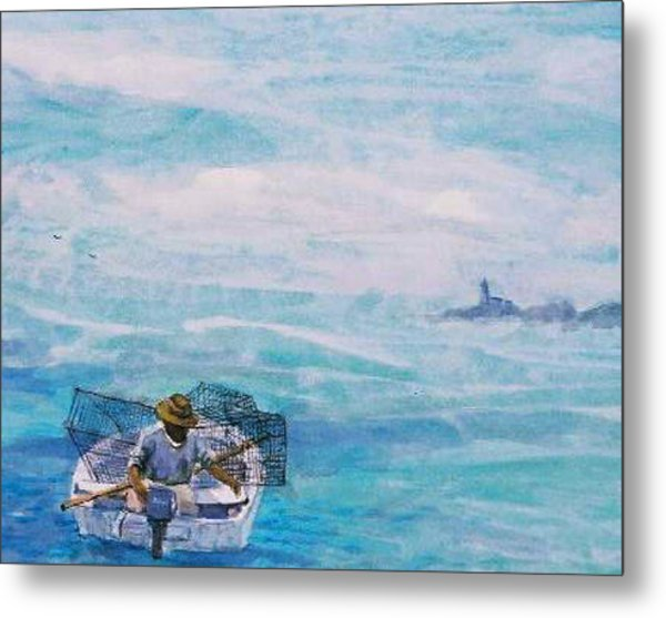 Crab Traps Metal Print by Ruth Mabee