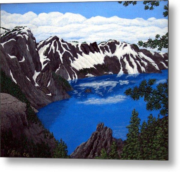 Crater Lake Metal Print by Frederic Kohli