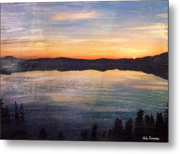 Crater Lake Sunrise Metal Print