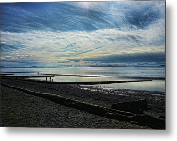 Crescent Beach At Dusk Metal Print