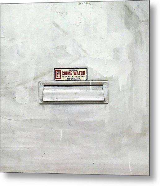 Crime Watch Mailslot Metal Print
