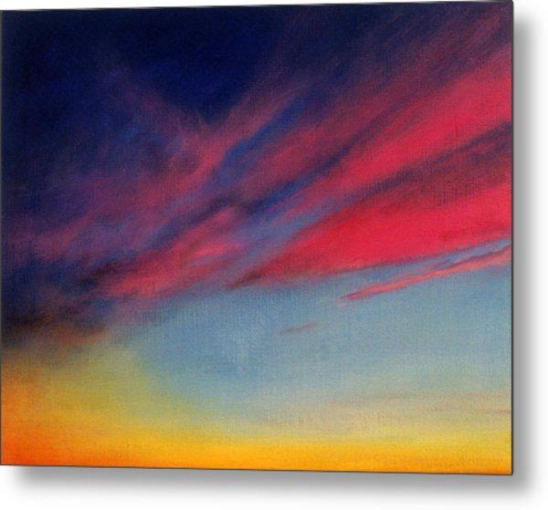 Crimson Sunset II Metal Print by Ruth Sharton
