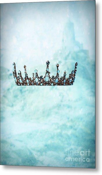 Crown In Snow Scene Metal Print