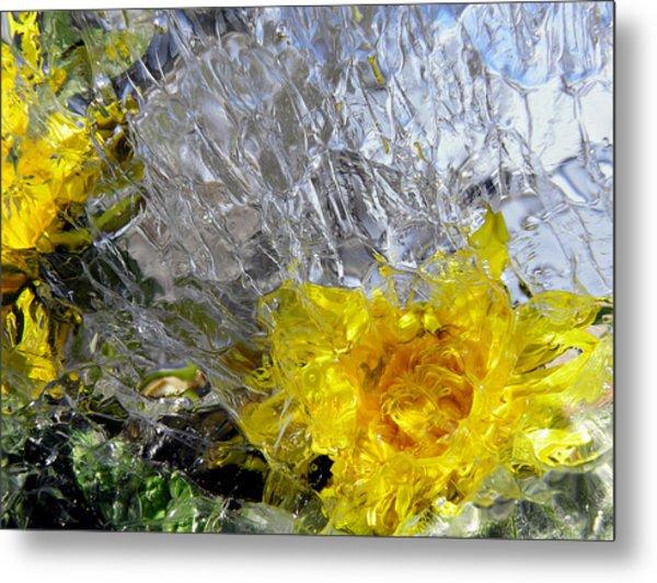 Crystal Flowers Metal Print
