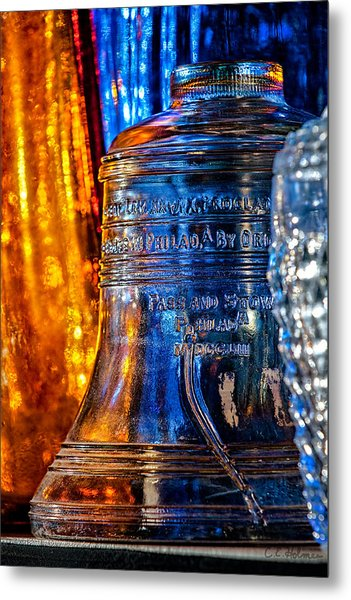 Crystal Liberty Bell Metal Print