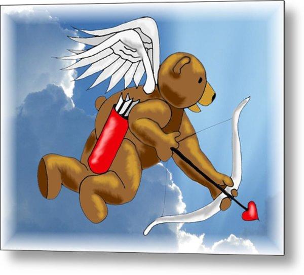 Cupid Bear Metal Print by Scarlett Royal