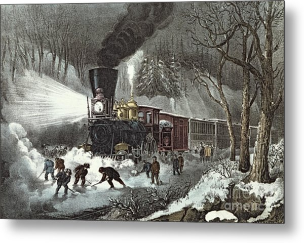 Currier And Ives Metal Print