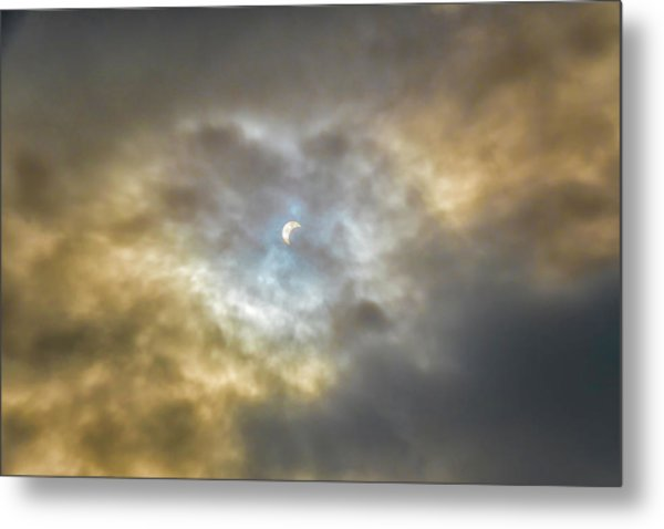 Curtain Of Clouds Eclipse Metal Print