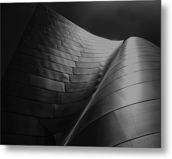 Curves Frank Gehry Aia Metal Print