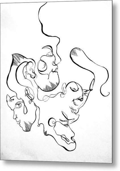 Curving Faces Metal Print by Kate Dingwall