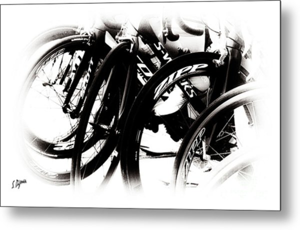 Cycling Art  Metal Print by Steven Digman