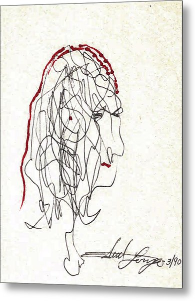 Da Vinci Drawing Metal Print